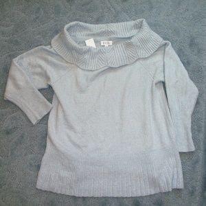 Elle acrylic beautiful sweater XXL gray (#EV676)
